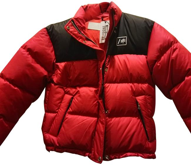 Item - Red Black S Re/Done Puffed Zipped Front Winterized Coat Size 6 (S)