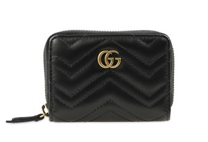 Gucci GG Marmont Chevron Quilted Zip