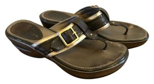 Cole Haan Nike Comfortable Metallic brown Sandals