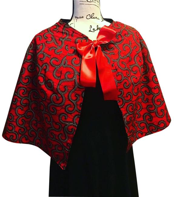 Item - Red & Black 12 Poncho/Cape Size OS (one size)