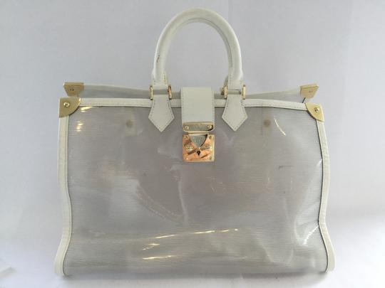 Louis Vuitton Grand Galet Pool Epi Clear White Beach Bag