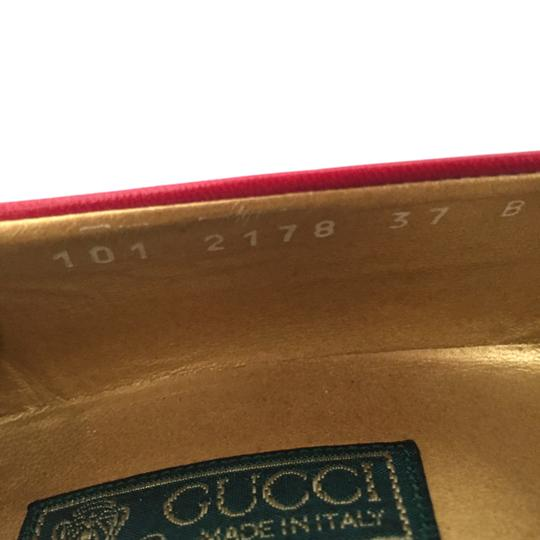 Gucci Vuntage Vintage Gold Insoles Red Pumps Image 5