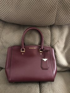 Michael Kors Collection Satchel in Burgundy/Red
