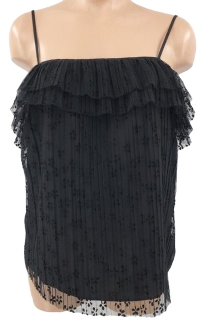 Item - Floral Lace Blouse Cami Ruffle ~ New Black Sweater
