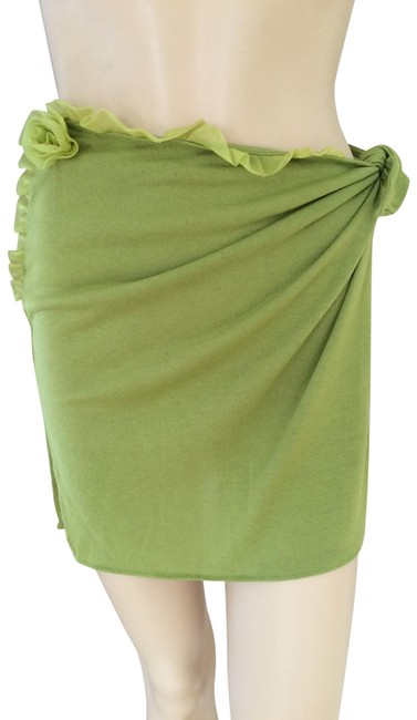 Item - Green Olive Skirt Cover-up/Sarong Size 8 (M)