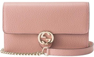 Gucci New Gg Pink Leather Cross Body Bag