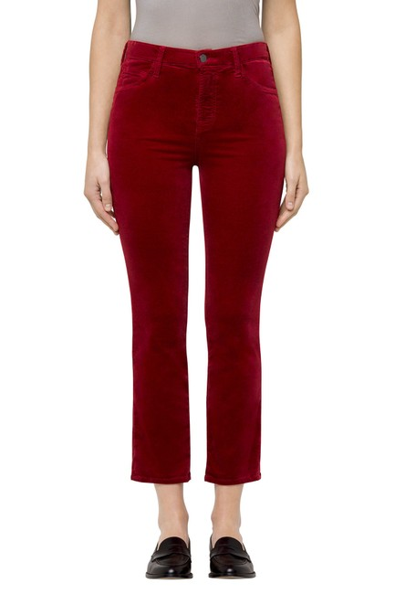 Item - Oxblood Burgundy Ruby High-rise Cropped Cigarette Straight Leg Jeans Size 24 (0, XS)
