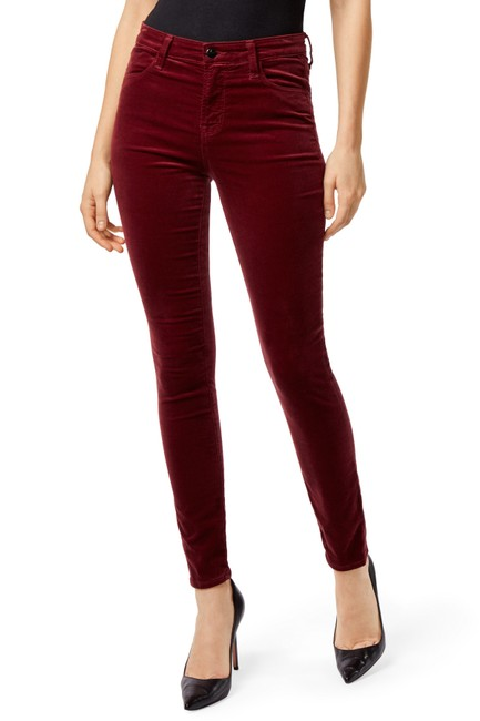 Item - Oxblood Burgundy Ruby High-rise Cigarette Skinny Jeans Size 25 (2, XS)