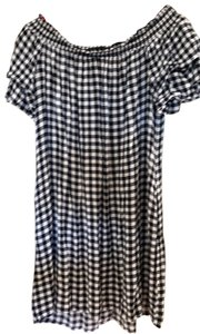 Xhilaration short dress Black and white checkered on Tradesy