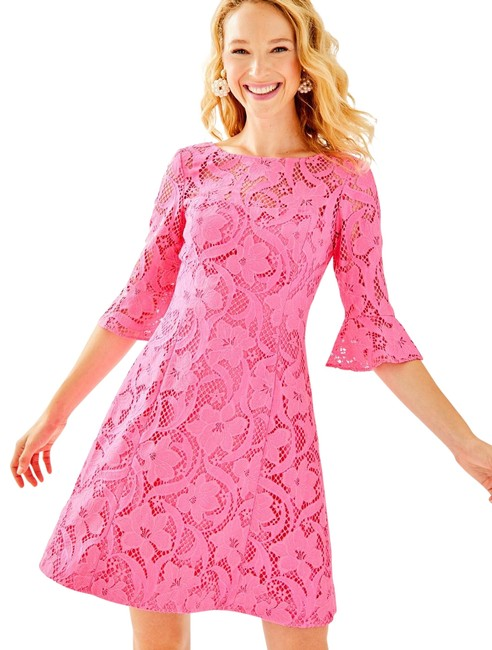 Preload https://img-static.tradesy.com/item/26679540/lilly-pulitzer-pink-tropics-allyson-floral-vines-lace-short-cocktail-dress-size-4-s-0-2-650-650.jpg