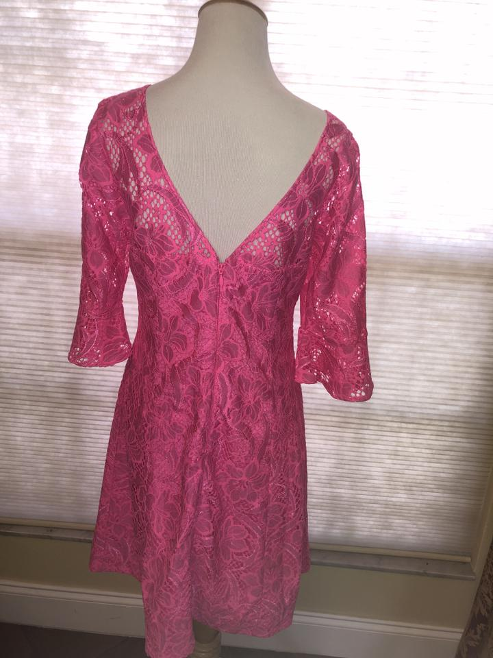AUTH Lilly Pulitzer ALLYSON LACE DRESS Pink Tropics Floral Vines Lace 0//6