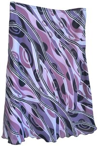A. Byer Feminine Classic Color Lined Stretchy Skirt Black, Pink, Purple