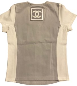 Chanel Chanel top sz 46 grey and white