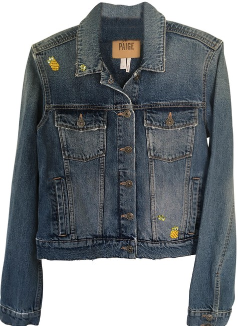 Item - Blue Denim Wylder Aloha Pineapple Sunny Embellished Jacket Size 6 (S)