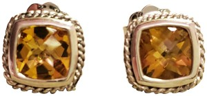 Andréa Candela Mini Alhambra Citrine Sterling Silver and 18KT Gold Earrings