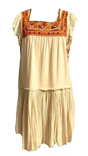 Item - Multicolor White Sand Short Casual Dress Size 8 (M)