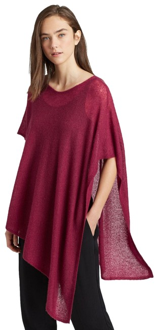 Item - Purple Hibiscus Cashmere Silk Poncho/Cape Size OS (one size)