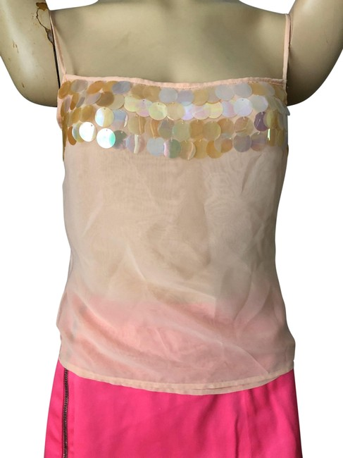 Item - Sheer Dressy Peach/Creme Top