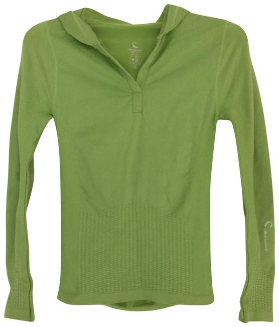 Item - Green Slimming Workout Tee Shirt Blouse Sweatshirt/Hoodie Size 4 (S)