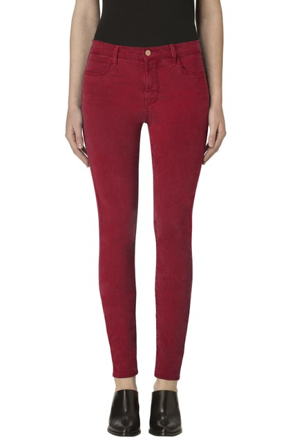 Item - Red 485 Mid-rise Luxe Sateen Super Skinny Jeans Size 27 (4, S)
