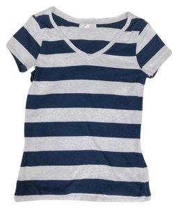 Forever 21 T Shirt Navy Blue and Grey