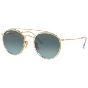 Ray-Ban Ray Ban RB3647N 91233M Gold/Blue Sunglasses