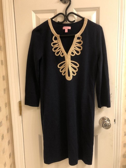 Lilly Pulitzer short dress navy and gold on Tradesy Image 1