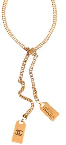 CHANEL 2020 Cruise Collection Double Knott Tag Necklace