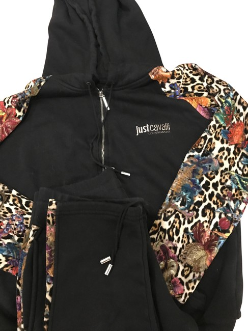 Item - Black/Multi Color with Cheetah Activewear Size 4 (S)