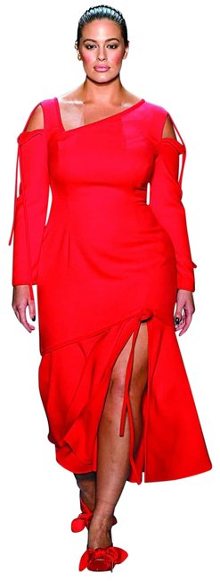 Item - Red Waist Flared Mid-length Night Out Dress Size 6 (S)