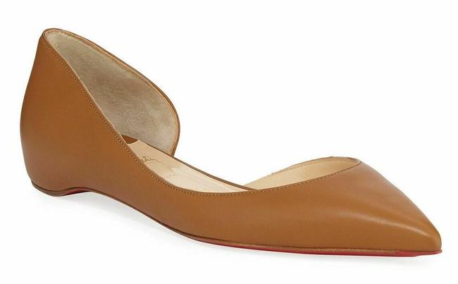 Item - Brown Iriza Caramel Nappa Leather Pointed Toe Ballerina Ballet Flats Size EU 38.5 (Approx. US 8.5) Regular (M, B)