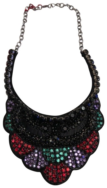 Item - Multicolor Crystal Layered Crystal Statement Necklace