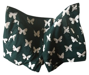 J. Crew Printed Butterfly Print Butterfly Forest Shorts Green