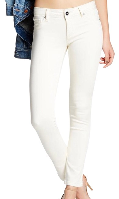 Item - Cream Cannes Angel Mid Rise Ankle Skinny Jeans Size 4 (S, 27)