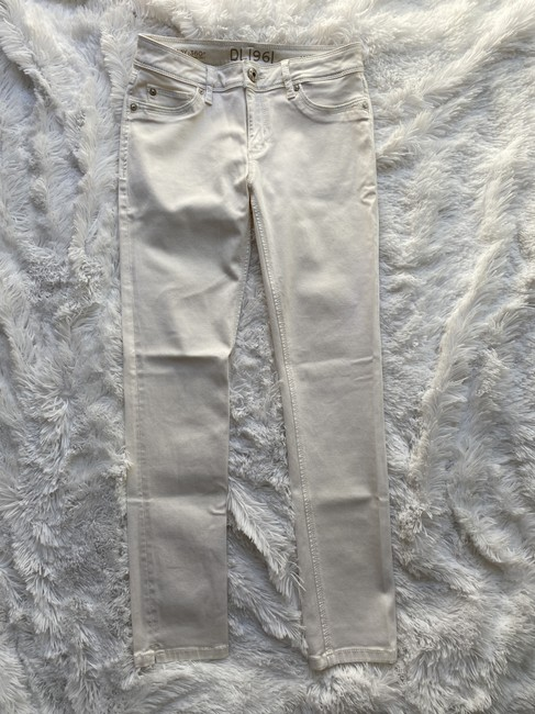 DL1961 Cream Cannes Angel Mid Rise Ankle Skinny Jeans Size 4 (S, 27) DL1961 Cream Cannes Angel Mid Rise Ankle Skinny Jeans Size 4 (S, 27) Image 3