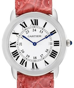 Cartier Cartier Ronde Solo Pink Strap Large Unisex Watch W6700255 Box Papers