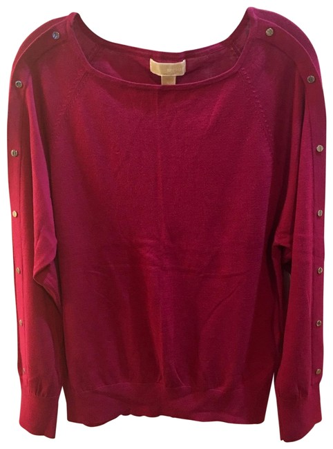 Item - New with Signed Metal Embellishment On Sleeves Maroon Color Sweater