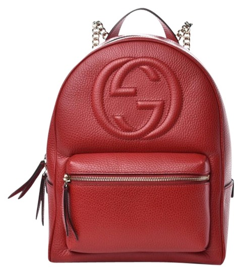Preload https://img-static.tradesy.com/item/26683421/gucci-soho-chain-strap-small-rucksack-536192-red-leather-backpack-0-2-540-540.jpg