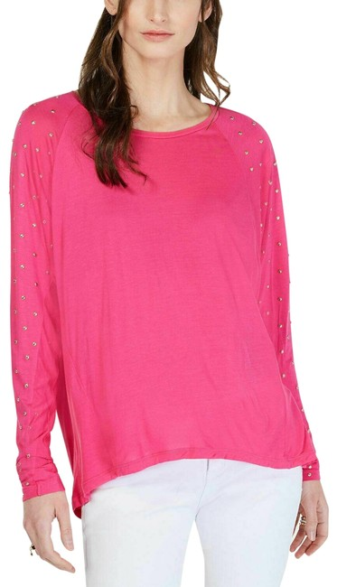 Item - Pink L Studded Sleeves New 252 Blouse Size 12 (L)
