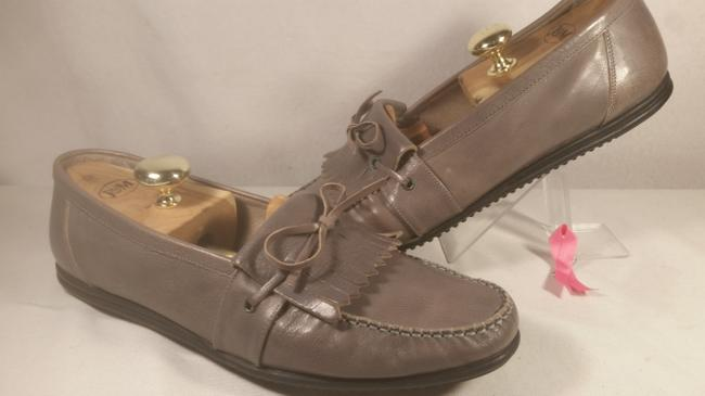 """Item - Grey W/Black Accents Switzerland Leather """"Encore"""" Dress Casual Office Loafer 11m Shoes"""