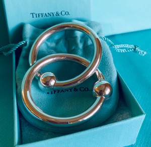 Tiffany & Co. Sterling Silver Baby Rattle Double Ring NEW