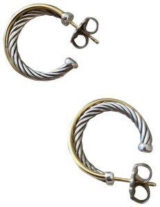 David Yurman gold and silver hoop