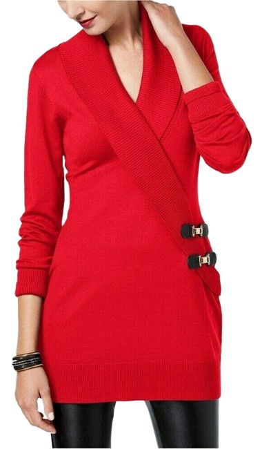 Item - Buckle Knit Women M New Red Sweater