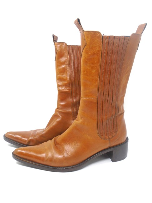 Vero Cuoio Brown Leather Cowboy Boots