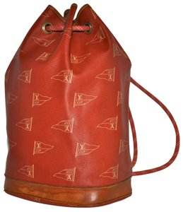 Louis Vuitton Guaranteed Limited Edition Special Edition Americas Cup Sailing Sailing Race Nautical Made In France French Flags Backpack
