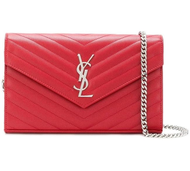 Item - Chain Wallet Monogram Woc with Gold Hardware Neon Pink Leather Shoulder Bag