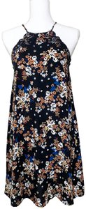 Kendall + Kylie short dress Black Floral on Tradesy