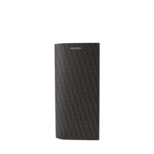 Saint Laurent Black / Brown / Supreme Canvas Leather Wallet 361321 1059 Groomsman Gift