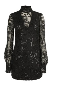 Alexis Polyester Elastic Embroidered Dress