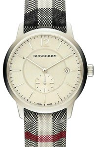 Burberry Burberry Watch Silver Dial Horseferry Check Unisex Watch BU10002